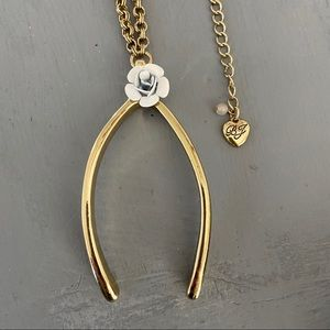 Betsey Johnson Wishbone Long Necklace